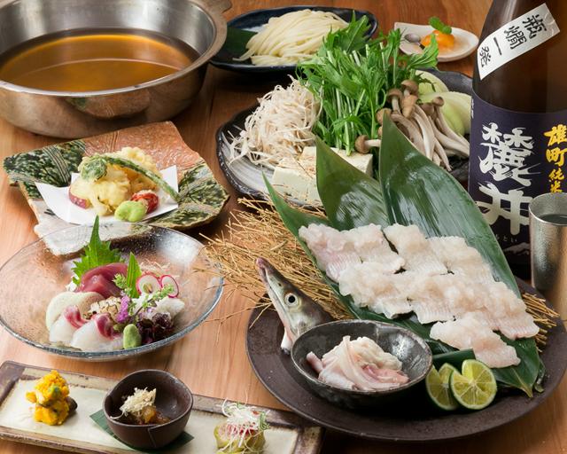 淡路島産! 今が旬の鱧料理各種!鱧コースもございます。